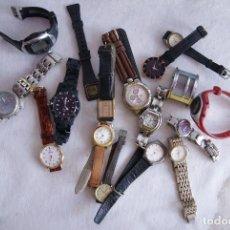 Relojes: LOTE DE 17 RELOJES CUARZO SIN COMPROBAR RAYMOND WEIL, MX ONDA Q9. Lote 122127179