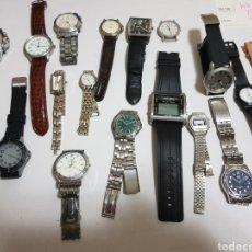 Relojes: RELOJES QUARZO LOTE 18 VARIAS MARCAS. Lote 122225575