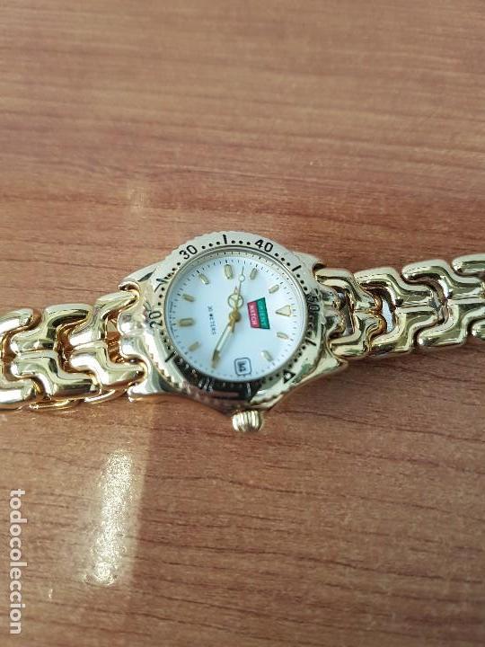 Relojes: Reloj de señora Orient con calendario de cuarzo chapado de oro, correa chapada de oro original - Foto 10 - 122653683