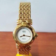 Relojes: RELOJ SEÑORA DE CUARZO ORIENT CHAPADO DE ORO CON CORREA CHAPADA DE ORO ORIGINAL ORIENT NUEVO . Lote 122666907