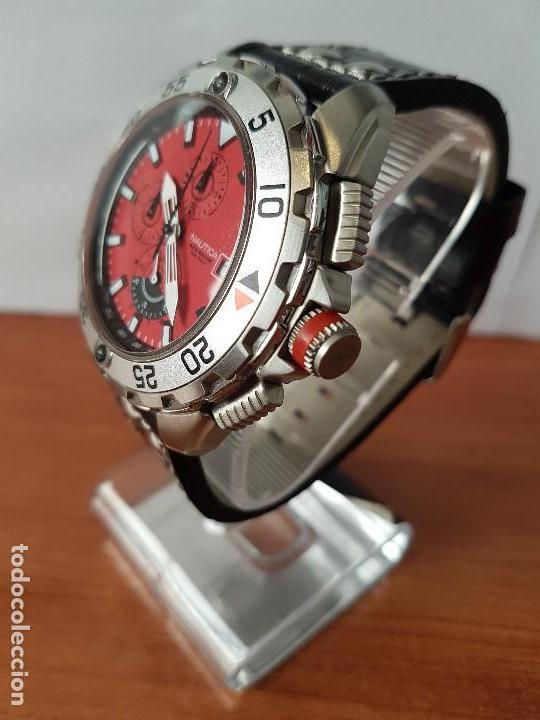36f3503a550b Relojes  Reloj caballero NAUTICA de cuarzo cronógrafo en acero corona de  rosca