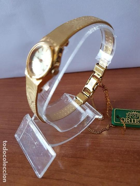 Relojes: Reloj señora (Vintage) Orient cuarzo chapado de oro con correa de Orient original chapada de oro - Foto 5 - 122763183
