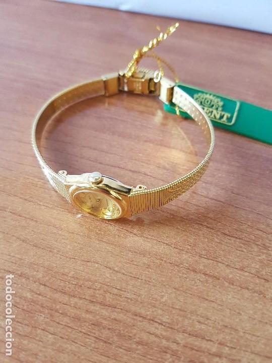 Relojes: Reloj señora (Vintage) Orient cuarzo chapado de oro con correa de Orient original chapada de oro - Foto 7 - 122763183