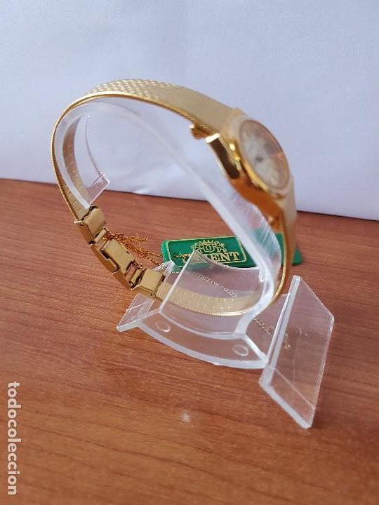 Relojes: Reloj señora (Vintage) Orient cuarzo chapado de oro con correa de Orient original chapada de oro - Foto 10 - 122763183