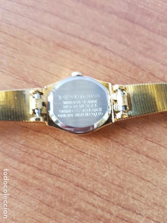 Relojes: Reloj señora (Vintage) Orient cuarzo chapado de oro con correa de Orient original chapada de oro - Foto 11 - 122763183
