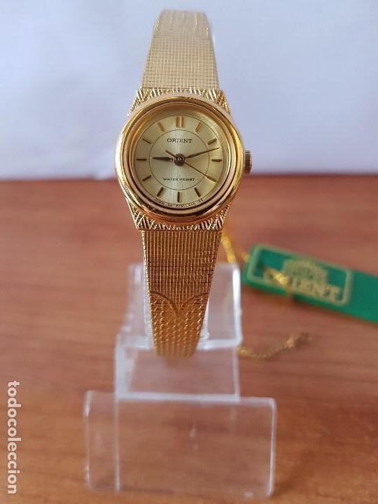 RELOJ SEÑORA (VINTAGE) ORIENT CUARZO CHAPADO DE ORO CON CORREA DE ORIENT ORIGINAL CHAPADA DE ORO (Relojes - Relojes Actuales - Otros)