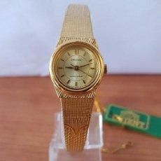 Relojes: RELOJ SEÑORA (VINTAGE) ORIENT CUARZO CHAPADO DE ORO CON CORREA DE ORIENT ORIGINAL CHAPADA DE ORO . Lote 122763183
