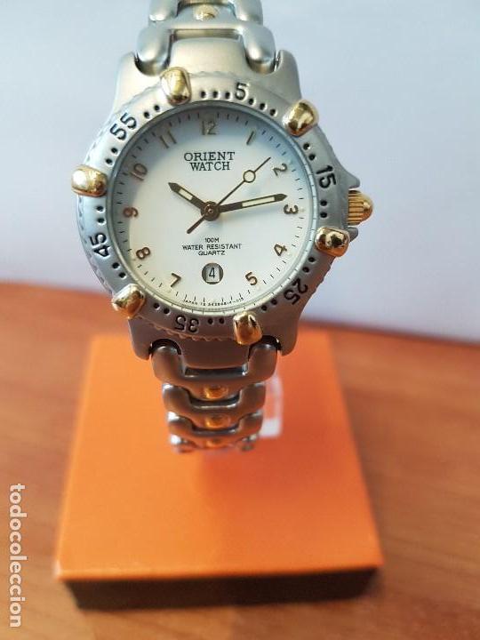 7f769faea42b reloj señora orient de cuarzo orient de acero y - Comprar Relojes ...
