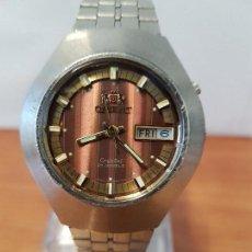 Relojes: RELOJ CABALLERO (VINTAGE) ORIENT AUTOMÁTICO ACERO CON DOBLE CALENDARIO, CORREA ACERO, TODO ORIGINAL.. Lote 123033695
