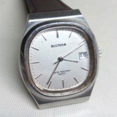 Relógios: RELOJ BLUMAR DE CUARZO, CON CALENDARIO - CAJA 3'50 CM - FUNCIONA CORRECTAMENTE. Lote 124305463