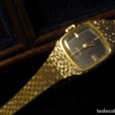 Relojes: ELEGANTE Y LUJOSO RELOJ EN PLATA ANTIGUO SEIKO JAPON W G.P DE SEÑORA FUNCIONANDO DE CUERDA. Lote 124346115