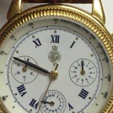 Relojes: RELOJ ROYAL GEOGRAPHICAL SOCIETY 1830 CHRONOGRAPH Y BAÑADO EN ORO 10KL. Lote 124430838