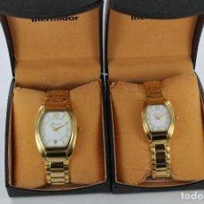Relojes: PAREJA DE RELOJES THERMIDOR SEÑORA Y CABALLERO. Lote 125032183