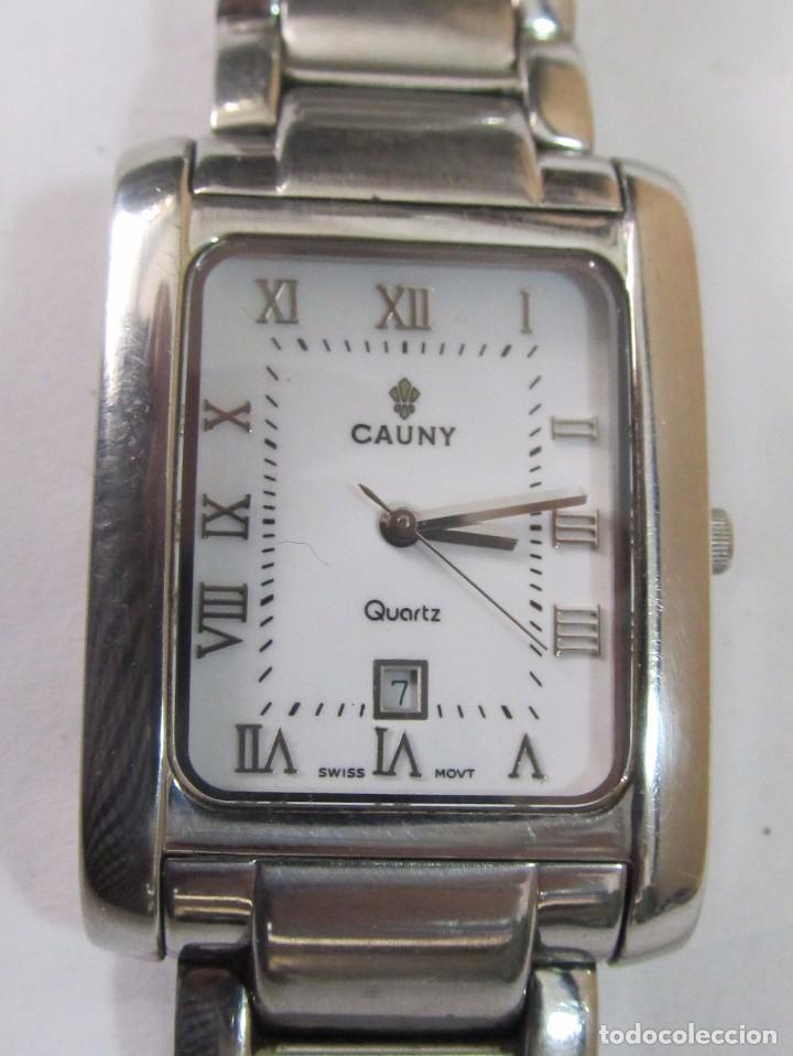 Relojes: RELOJ CAUNY DE CUARZO CON CALENDARIO - Foto 2 - 126109723