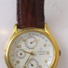 Relojes: RELOJ INFINITY DE CUARZO CON CALENDARIO, CHAPADO EN ORO. Lote 128155423