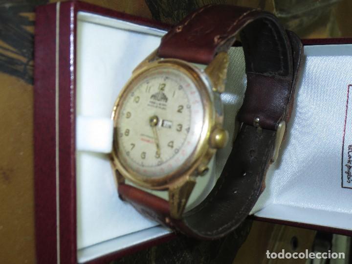 Relojes: PHILIPPE PRECISION 21 RUBIES DOS SELLOS RELOJ PULSERA GRANDE PLACA DE ORO 2º GUERRA MUNDIAL SS - Foto 11 - 128595335