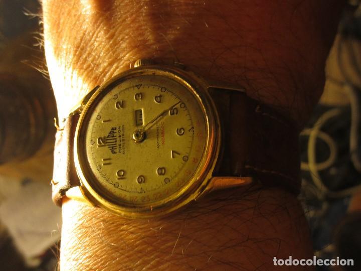 Relojes: PHILIPPE PRECISION 21 RUBIES DOS SELLOS RELOJ PULSERA GRANDE PLACA DE ORO 2º GUERRA MUNDIAL SS - Foto 3 - 128595335