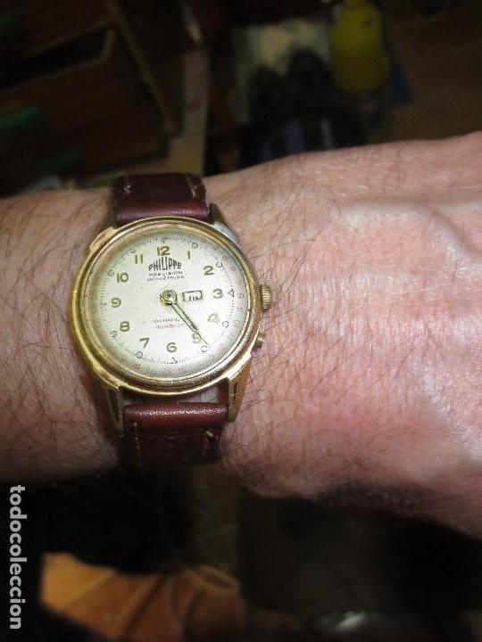 Relojes: PHILIPPE PRECISION 21 RUBIES DOS SELLOS RELOJ PULSERA GRANDE PLACA DE ORO 2º GUERRA MUNDIAL SS - Foto 2 - 128595335