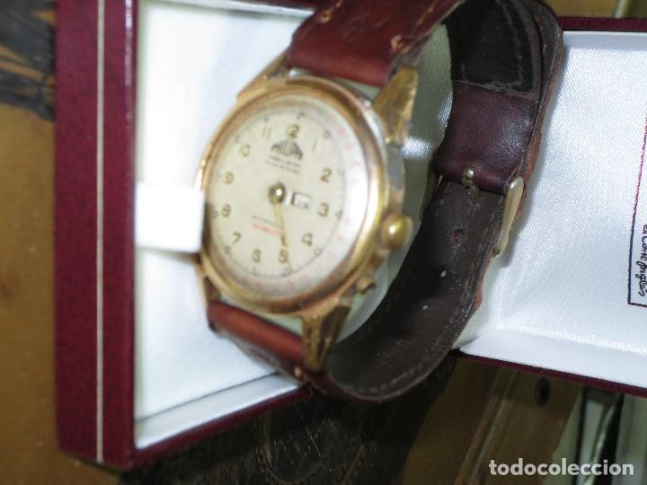 Relojes: PHILIPPE PRECISION 21 RUBIES DOS SELLOS RELOJ PULSERA GRANDE PLACA DE ORO 2º GUERRA MUNDIAL SS - Foto 6 - 128595335