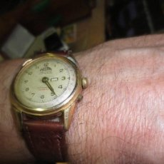 Relojes: PHILIPPE PRECISION 21 RUBIES DOS SELLOS RELOJ PULSERA GRANDE PLACA DE ORO 2º GUERRA MUNDIAL SS. Lote 128595335
