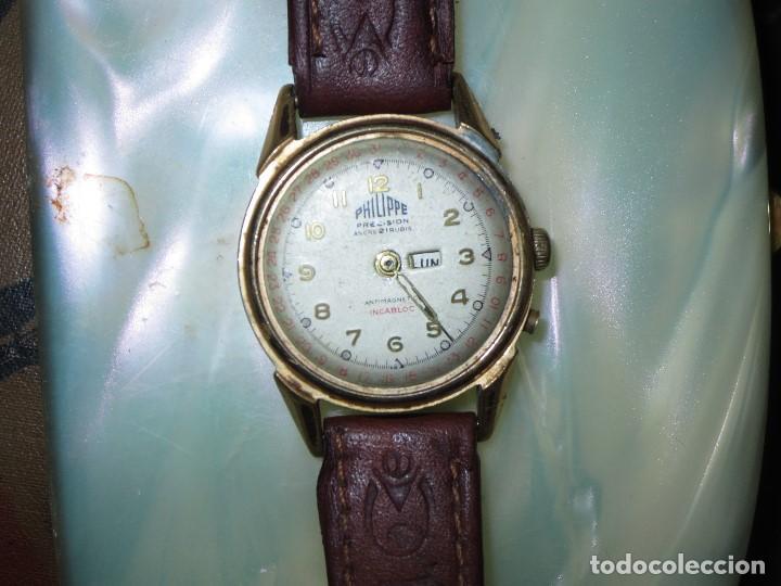Relojes: PHILIPPE PRECISION 21 RUBIES DOS SELLOS RELOJ PULSERA GRANDE PLACA DE ORO 2º GUERRA MUNDIAL SS - Foto 15 - 128595335