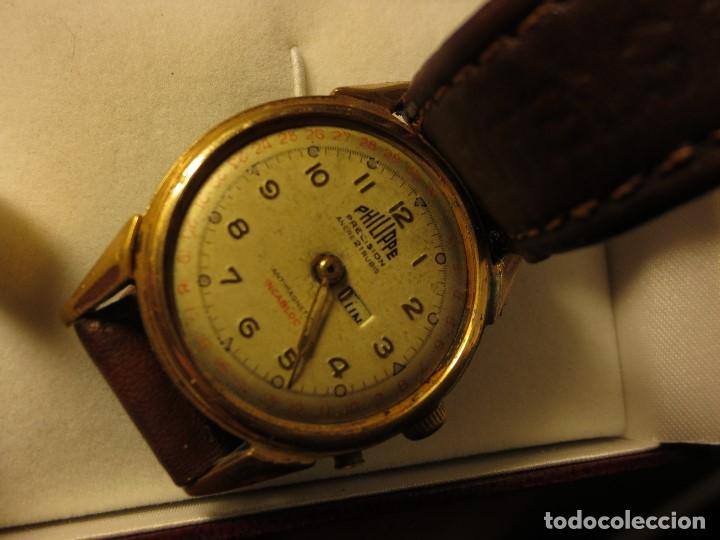 Relojes: PHILIPPE PRECISION 21 RUBIES DOS SELLOS RELOJ PULSERA GRANDE PLACA DE ORO 2º GUERRA MUNDIAL SS - Foto 4 - 128595335