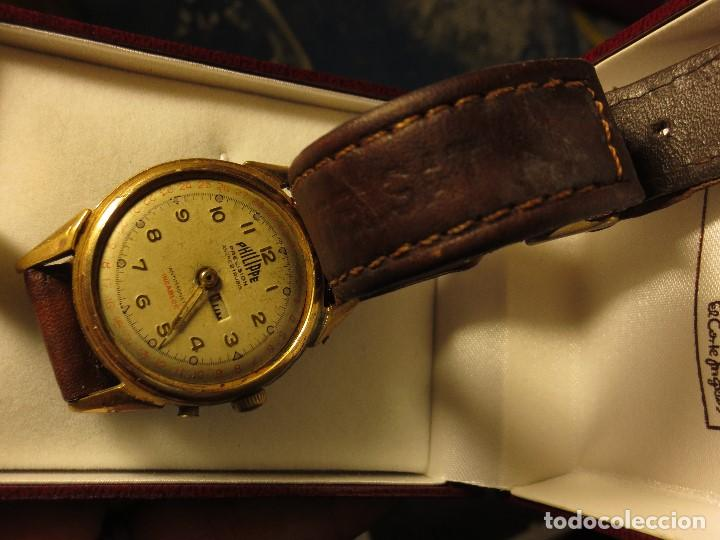Relojes: PHILIPPE PRECISION 21 RUBIES DOS SELLOS RELOJ PULSERA GRANDE PLACA DE ORO 2º GUERRA MUNDIAL SS - Foto 13 - 128595335