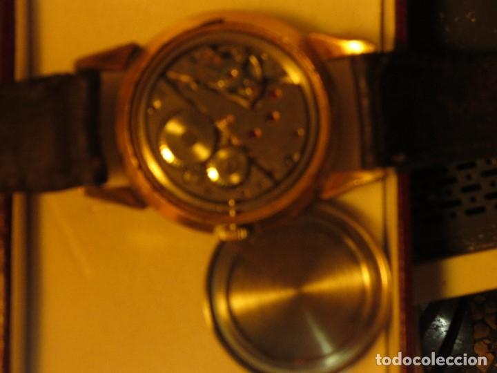 Relojes: MARCA HUMA RELOJ ANTIGUO PULSERA CABALLERO CHAPADO EN ORO CONTRASTE RARO FUNCIONANDO - Foto 10 - 128600183