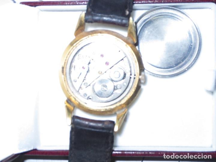 Relojes: MARCA HUMA RELOJ ANTIGUO PULSERA CABALLERO CHAPADO EN ORO CONTRASTE RARO FUNCIONANDO - Foto 13 - 128600183
