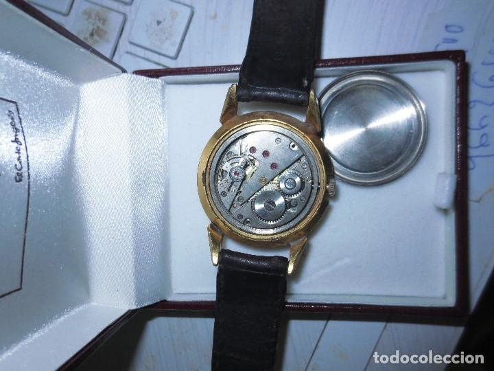 Relojes: MARCA HUMA RELOJ ANTIGUO PULSERA CABALLERO CHAPADO EN ORO CONTRASTE RARO FUNCIONANDO - Foto 14 - 128600183