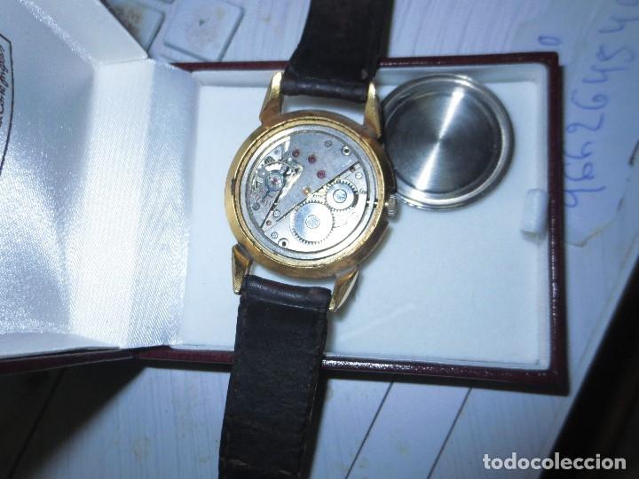 Relojes: MARCA HUMA RELOJ ANTIGUO PULSERA CABALLERO CHAPADO EN ORO CONTRASTE RARO FUNCIONANDO - Foto 16 - 128600183