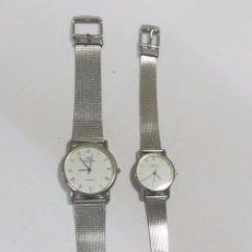 Relojes: PAREJA DE RELOJES CORTEFIEL DE CUARZO, PARA MUJER Y CABALLERO. Lote 129080527