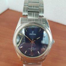 Relojes: RELOJ CABALLERO (VINTAGE) FESTINA ACERO DE CUARZO CON CALENDARIO, CORREA DE ACERO ORIGINAL. . Lote 129101811