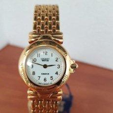Relojes: RELOJ SEÑORA DE CUARZO ORIENT CHAPADO DE ORO CON CORREA CHAPADA DE ORO ORIGINAL ORIENT NUEVO . Lote 129139455