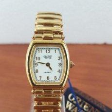Relojes: RELOJ SEÑORA DE CUARZO ORIENT CHAPADO DE ORO CON CORREA CHAPADA DE ORO ORIGINAL ORIENT NUEVO . Lote 129167379