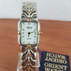 Relojes: RELOJ SEÑORA ORIENT DE CUARZO EN ACERO OVALADO CON CORREA ORIGINAL ACERO BICOLOR, RELOJ NUEVO . Lote 129171443
