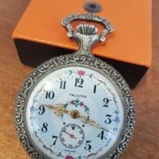 Relojes: RELOJ DE BOLSILLO (VINTAGE) MARCA FELICITAS. SUIZO 17 RUBIS INCABLOC MÁQUINA CALIBRE VALJOUX 7739. Lote 129181039