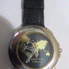 Relojes: RELOJ BENETTON BY BULOVA DE CUARZO, AÑOS 80. Lote 129450755