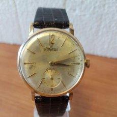 Relojes: RELOJ CABALLERO (VINTAGE) INSA WATCH CUERDA MANUAL DE 15 RUBIS SUIZO DE LOS AÑOS 50 CHAPADO 10 MICRA. Lote 130034863
