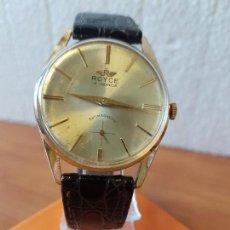 Relojes: RELOJ CABALLERO (VINTAGE) ROYCE DE CUERDA MANUAL 15 RUBIS CALIBRE AS 1130, CORREA DE CUERO MARRÓN . Lote 130039459