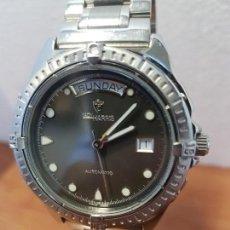 Relojes: RELOJ CABALLERO LADY HARRIS (CROTON) AUTOMÁTICO CON DOBLE CALENDARIO A LAS TRES Y DOCE, CORREA ACERO. Lote 130068743