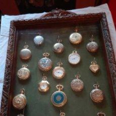 Relojes: COLECCIÓN RELOJES BOLSILLO TIPO CUARZO CON EXPOSITOR. Lote 130355030