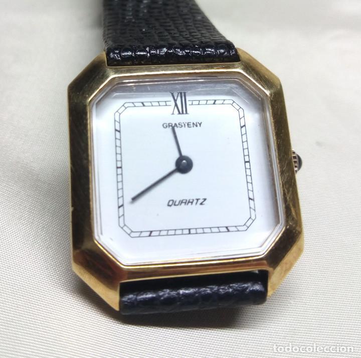 RELOJ GRASTENY DE CUARZO CHAPADO EN ORO (Relojes - Relojes Actuales - Otros)