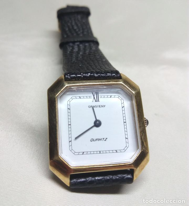 Relojes: RELOJ GRASTENY DE CUARZO CHAPADO EN ORO - Foto 2 - 130859768
