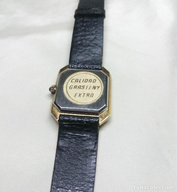 Relojes: RELOJ GRASTENY DE CUARZO CHAPADO EN ORO - Foto 4 - 130859768