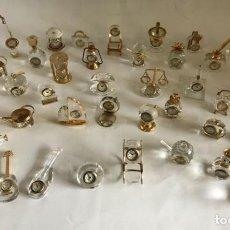 Relojes: COLECCION 42 MINIATURAS DE RELOJES DE CRISTAL. Lote 130943384