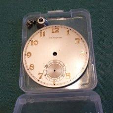 Relojes: ESFERA DE RELOJ HAMILTON. Lote 131242595