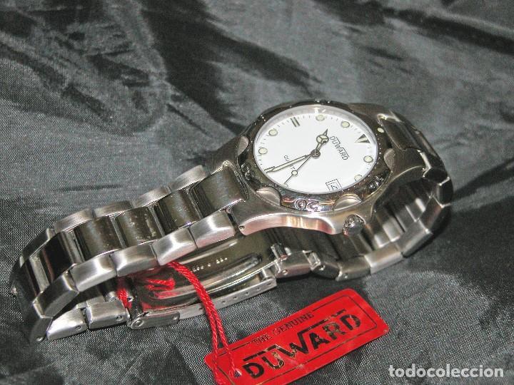 RELOJ DE CABALLERO MARCA DUWARD. ACERO INOXIDABLE. VINTAGE. NUEVO. NOS. (Relojes - Relojes Actuales - Otros)