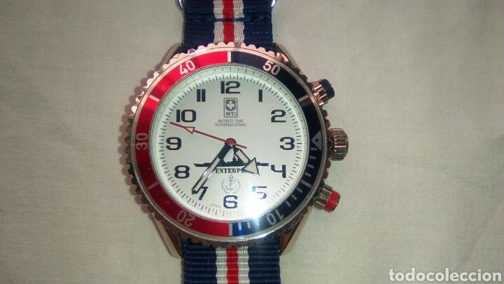 Relojes: Reloj estilo militar. World Time Internacional WTI. Modelo SS Enterprise. Año 2016 - Foto 4 - 132813767