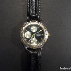 Relojes: RELOJ CORREA CUERO SEÑORA-CADETE ACERO Y DORADO. FESTINA. MULTIFUNCION. QUARTZ. SIGLO XX. Lote 132910310